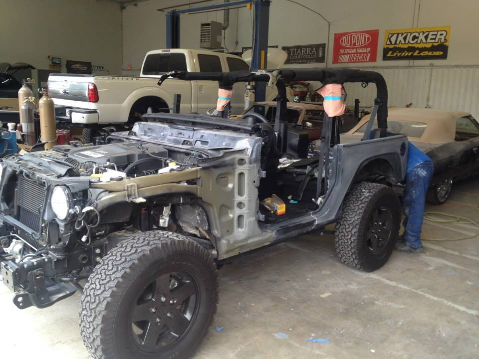2012 Jeep Wrangler Auto Body Repair Longview Tx